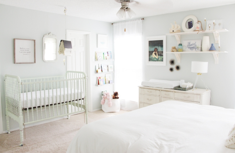 Maegan Johnson NurseryBedroom Tour, Nursery Interior Design, Modern Nursery Design, Coastal Nursery Design, Mid century Nursery Design, Blue Nursery