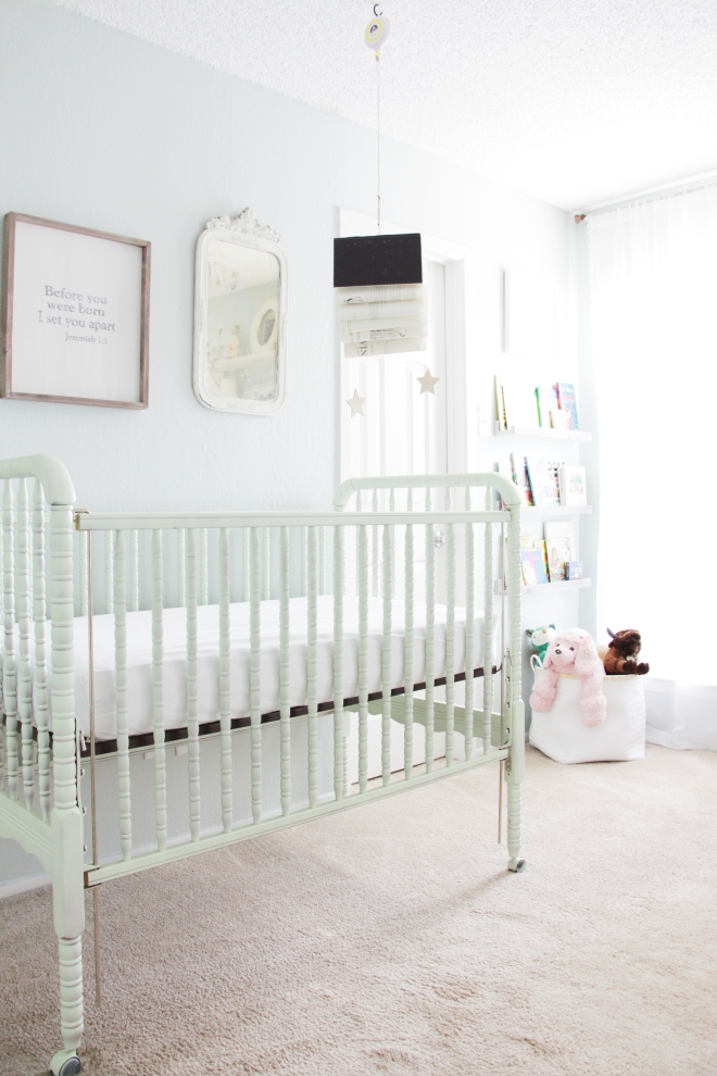 Maegan Johnson NurseryBedroom Tour, Reading Noook, Nursery Interior Design, Modern Nursery Design, Coastal Nursery Design, Mid century Nursery Design, Blue Nursery